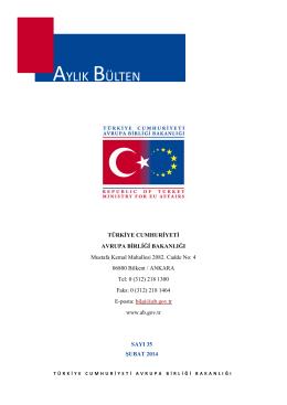 Aylık Bülten Şubat 2014 - Avrupa Birliği Bakanlığı