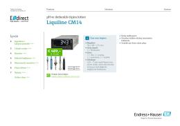 TD Liquiline CM14 (PDF 2,63 MB) - E-direct