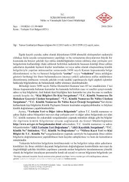 Yerleşim Yeri Belgesi(29.01.2014-9689)