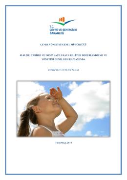 Temiz Hava Eylem Planı - Çevre ve Şehircilik Bakanlığı