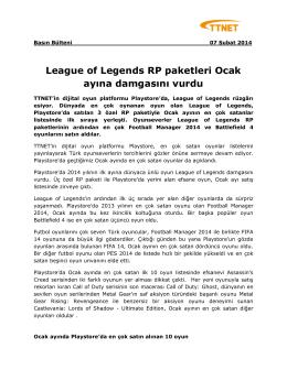 League of Legends RP paketleri Ocak ayına damgasını vurdu