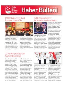 Haber BülteniNisan 2014 - Türkiye Milli Olimpiyat Komitesi