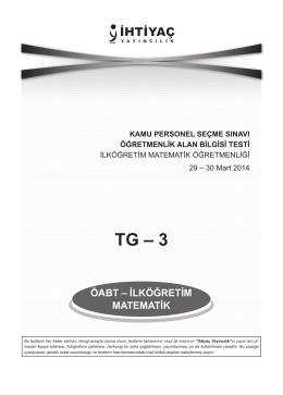 TG – 3 - İhtiyaç Yayıncılık