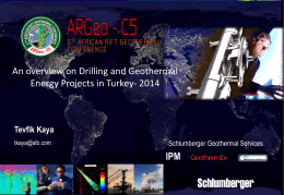 An overview on Drilling and Geothermal Energy Projects in Turkey