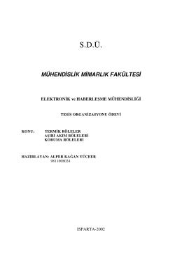 S.D.Ü. - Fikir Elektronik Teknik
