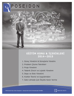 2014 - 2015 Eğitim Programı