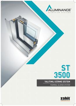 st 3500 yalıtımlı sürme sistem