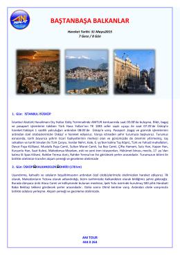 Baştanbaşa Balkanlar 31 Mayıs