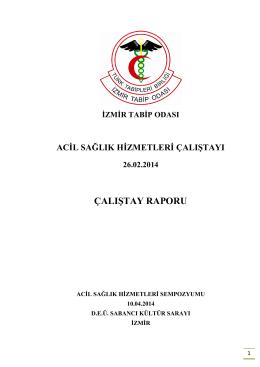 çalıştay raporu - İzmir Tabip Odası