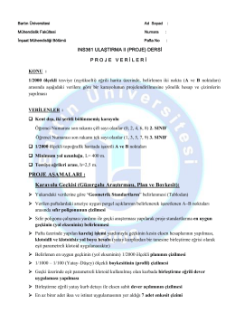 Poreje Verileri - Bartın Üniversitesi Mühendislik Fakültesi