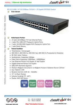 24*10/100Base-TX RJ45 + 2P Gigabit SFP/RJ45 Switch