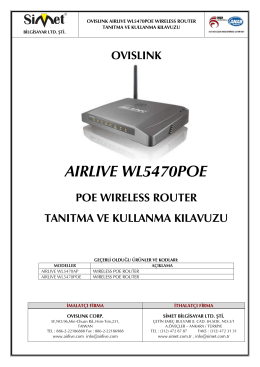aırlıve wl5470poe - Simet İletişim ve Bilgisayar