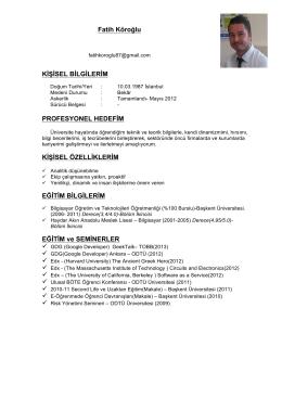 CV - Fatih Köroğlu
