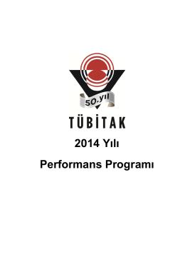 TÜBİTAK 2014 Yılı Performans Programı