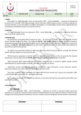 bg.pr risk yönetimi prosedürü - Bilgi Güvenliği