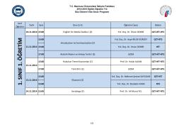 1. sınıf 1. öğretim - Marmara Üniversitesi