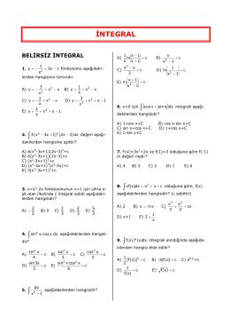 ∫ 5. ∫ - 1 ∫ ∫ İNTEGRAL