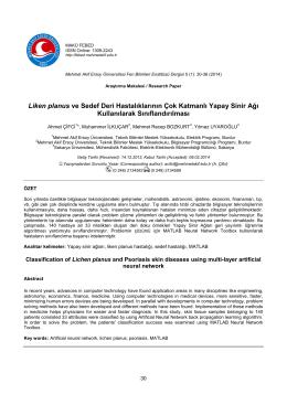 PhD Review Paper / Doktora Çalışması Derleme Makalesi