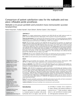 Comparison of patient satisfaction rates for the malleable and two