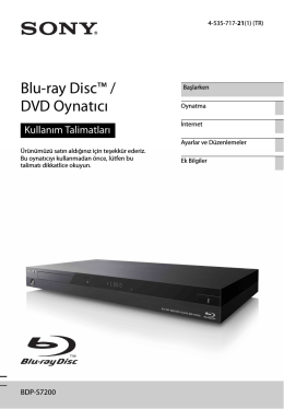 BDP-S7200 - Sony Europe