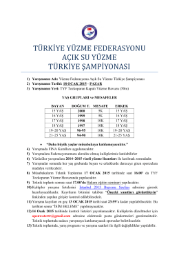 yüzme fererasyonu açık su yüzme türkiye şampiyonası
