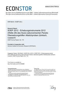 SOEP 2012 – Übersetzungshilfen