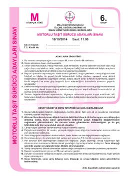13.11.2014 Sınavı - atakansurucukursu.com