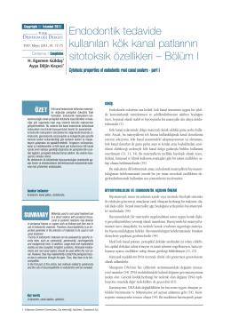 Bölüm I - endoteam - Süleyman Demirel Üniversitesi