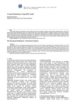 Demokan DEMİREL - KMÜ Sosyal ve Ekonomik Araştırmalar Dergisi
