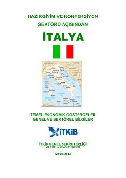 Hazırgiyim ve Konfeksiyon Sektörü Açısından İtalya