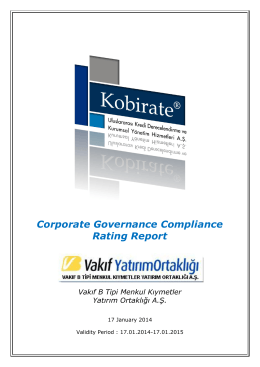 Corporate Governance Compliance Rating Report
