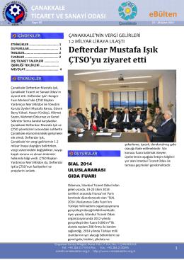 65.Şubat 2014-2 - Çanakkale Ticaret ve Sanayi Odası