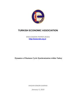 TURKISH ECONOMIC ASSOCIATION