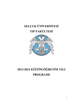 2013 – 2014 Ders Programı Tamamı