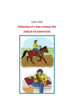 kişilik ve karakter