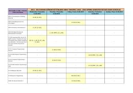 2013 - 2014 bahar dönemi bütünleme sınav takvimi / 2013
