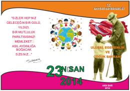 23 Nisan - Akhisar İlçe Milli Eğitim Müdürlüğü
