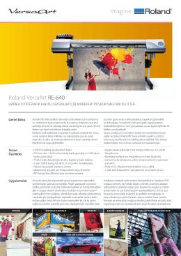 VersaArt RE-640 Broşür - OTS Dijital Baskı Çözümleri