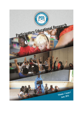 Cover Pages - Participatory Educational Research (PER)