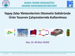 Doç. Dr. Ali Rıza YILDIZ - Bursa Teknik Üniversitesi