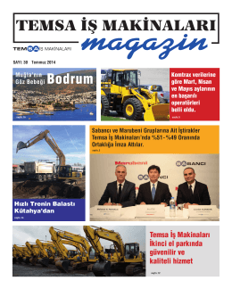 Temmuz - TEMSA İş Makinaları, Forklift ve Hybrid Makinaları