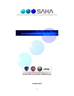 1 Kurumsal Yönetim ve Kredi Derecelendirme Hizmetleri A.Ş