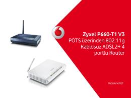 Zyxel P660-T1 V3 POTS üzerinden 802.11g Kablosuz