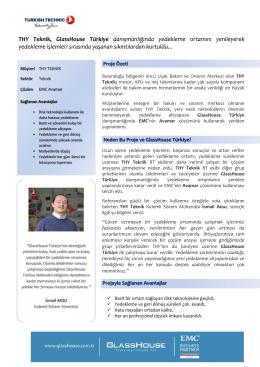 THY Teknik, GlassHouse Türkiye danışmanlığında yedekleme