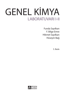 Genel Kimya Labaratuvar I.II 21.09.indb