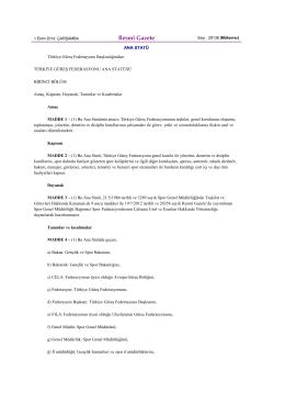 Resmî Gazete - Türkiye Güreş Federasyonu