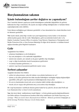 Avoid a debt - Turkish - Department of Human Services