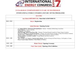 uluslararası enerji kongresi ve fuarı/ eıf 2014 program ınternatıonal