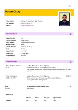 Hasan Oktay - PlaceHolder for imoistanbul.org