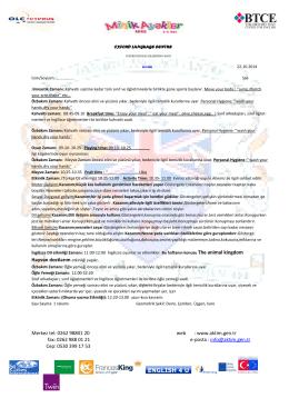 www.aktim.gen.tr fax: 0262 988 01 21 e